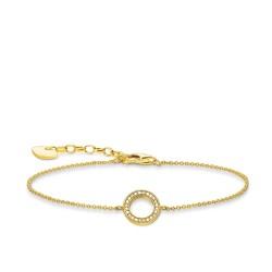 Thomas Sabo A1652-414-14 Armband Kreis Weiss Gold-Ton