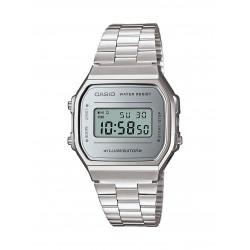 Casio A168WEM-7EF Unisex-Uhr Vintage Iconic Quarz Edelstahl-Armband
