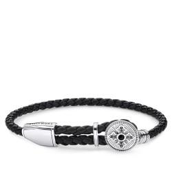 Thomas Sabo Rebel A1861-949-11 Armband Leder Kreuz Sterling-Silber 25 cm