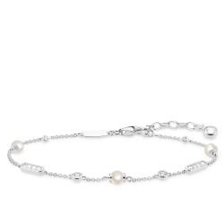 Thomas Sabo A1919-167-14 Armband Damen Perlen-Armband Silber