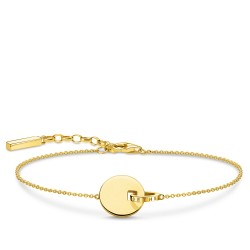 Thomas Sabo A1934-413-39 Armband Damen Together Coin mit Ring Silber Gold