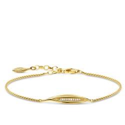 Thomas Sabo A1935-414-14 Armband Damen Blatt Silber Vergoldet