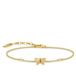 Thomas Sabo A1937-488-7 Armband Damen Schmetterling Silber Vergoldet