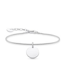 Thomas Sabo A1960-001-21 Armband Damen Gravurplatte Rund Silber 19 cm