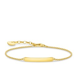 Thomas Sabo A1974-413-39 Armband Damen Classic Silber Vergoldet