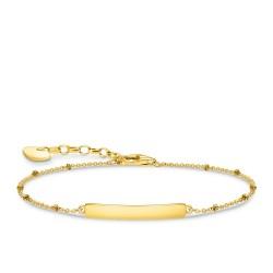 Thomas Sabo A1975-413-39 Armband Damen Classic Dots Silber Vergoldet