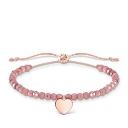 Thomas Sabo A1985-893-9 Armband Rosa Perlen mit Herz Rosé Vergoldet