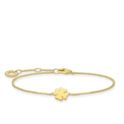 Thomas Sabo A1990-413-39-L19v Armband Damen Kleeblatt Vergoldet