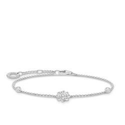 Thomas Sabo A1993-051-14 Armband Damen Kleeblatt mit Steinen Silber 19 cm