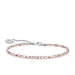 Thomas Sabo A1997-415-40 Armband Damen Doppelreihig Silber Rosé Vergoldet