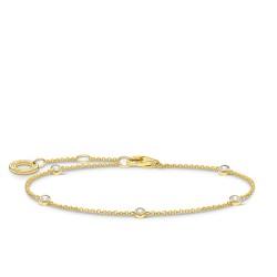 Thomas Sabo A1999-414-14 Armband Damen Weiße Steine Vergoldet 19 cm
