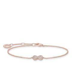 Thomas Sabo A2003-416-14 Armband Damen Infinity Roségold Vergoldet 19 cm