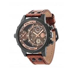Police PL14536JSB.12A Herren-Uhr Adder Multifunktion mit Leder Armband