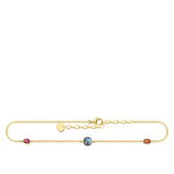 Thomas Sabo AK0020-995-7 Fußkette Damen Farbige Steine Vergoldet