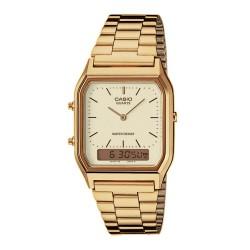 Casio AQ-230GA-9DMQYES Unisex-Uhr Vintage Chronograph Quarz Edelstahl