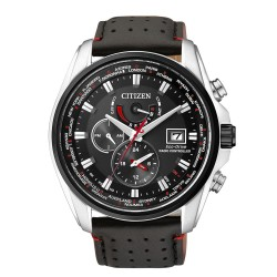 Citizen AT9036-08E Eco-Drive Herren-Uhr Funkuhr Analog Quarz mit Leder-Band