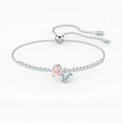 Swarovski 5517120 Armband Damen Attract Soul Rosa Silber-Ton