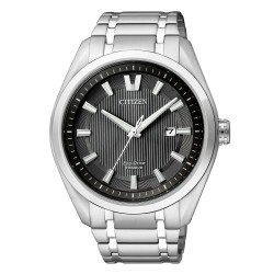 Citizen AW1240-57E Eco-Drive Herren-Uhr Super Titanium Analog Quarz