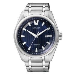 Citizen AW1240-57L Eco-Drive Herren-Uhr Super Titanium Analog Quarz