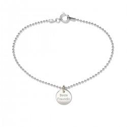 Beka & Bell 5022 Armband Lieblingsstück Beste Freundin Silber 19 cm