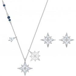 Swarovski 5517182 Set Halskette mit Anhänger Ohrstecker Symbolic Star Weiss Silber-Ton
