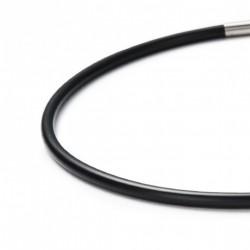 Monomania 40540-40 Silikon-Band Collier Kette Schwarz 40 cm