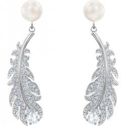 Swarovski 5496052 Ohrringe Damen Nice Weiss Silber-Ton