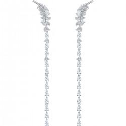 Swarovski 5493406 Ohrringe Damen Nice Weiss Silber-Ton