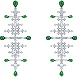 Swarovski 5496837 Ohrringe Damen Perfection Chandelier Grün Silber-Ton