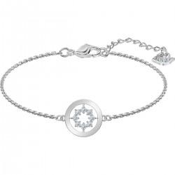Swarovski 5499003 Armband Damen Further Circle Weiss Silber-Ton