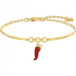 Swarovski 5498810 Armreif Damen Lisabel Pepper Rot Gold-Ton