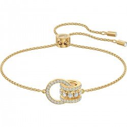 Swarovski 5499000 Armband Damen Further Weiss Gold-Ton