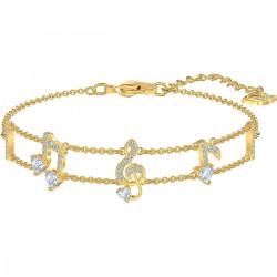 Swarovski 5491658 Armband Damen Pleasant Weiss Gold-Ton