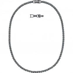Swarovski 5517113 Kette Damen Tennis Deluxe Schwarz Silber-Ton