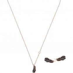 Swarovski 5506761 Set Halskette mit Anhänger Ohrstecker Damen Naughty Rosé Vergoldet