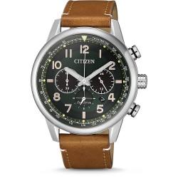 Citizen CA4420-21X Herren-Uhr Eco-Drive Chronograph mit Leder-Band