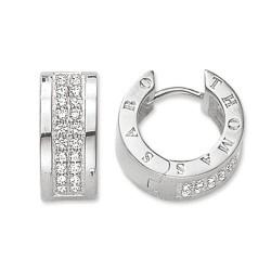 Thomas Sabo CR533-051-14 Ohrringe Creolen Damen Classic Weiss Silber
