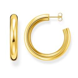 Thomas Sabo CR637-413-39 Ohrringe Creolen Classic Gross Gold-Ton Silber
