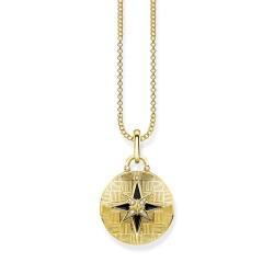 Thomas Sabo D_KE0037-895-25 Kette Medaillon Nautischer Stern Silber Gold