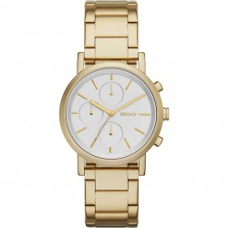 DKNY NY2274 Damen-Uhr Chronograph Gold-Ton Ø 38 mm