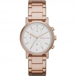 DKNY NY2275 Damen-Uhr Chronograph Rosé-Ton Ø 38 mm