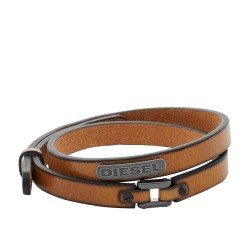 Diesel DX0984040 Armband Herren Stackables Leder Braun
