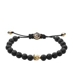 Diesel DX1069710 Armband Herren Beads Lava Gold-Ton