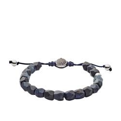 Diesel DX1138040 Armband Herren Beads Soldalith Blau Silber-Ton