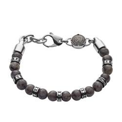 Diesel DX1164040 Armband Herren Beads Labradorit Grau Edelstahl