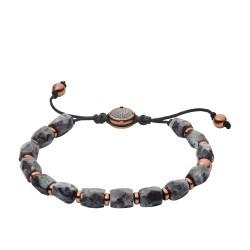 Diesel DX1217791 Armband Herren Beads Labradorit Edelstahl Grau-Roségold