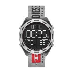 Diesel DZ1894 Herrenuhr Crusher Digital Quarz mit Nylon-Band Ø 46 mm