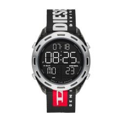 Diesel DZ1914 Herren-Uhr Crusher Digital Quarz mit Nylon-Band Ø 44 mm