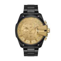 Diesel DZ4485 Herren-Uhr Mega Chief Chronograph Datum Gold Schwarz Ø 51 mm