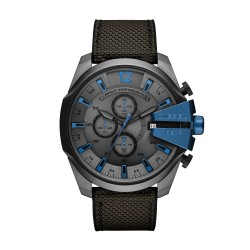 Diesel DZ4500 Herrenuhr Mega Chief Chronograph Quarz mit Silikon-Band Ø 51 mm